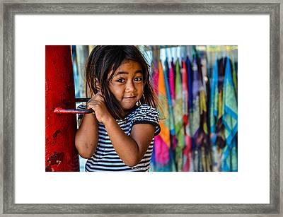 Beautiful Look Inocent Eyes Framed Print
