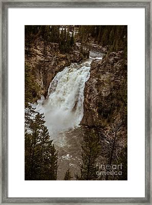 Beautiful Lower Falls Framed Print