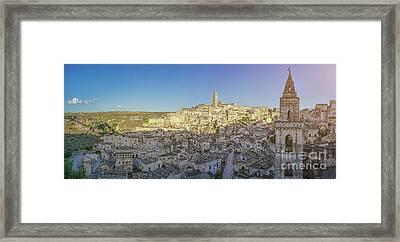 Beautiful Matera Sunset Framed Print by JR Photography