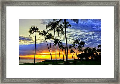 Beautiful Maui Hawaii Sunset Framed Print
