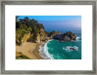 Beautiful Mcway Falls Cove Framed Print by Garry Gay