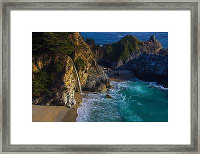 Beautiful Mcway Falls Framed Print by Garry Gay