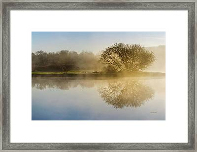 Framed Print featuring the photograph Beautiful Misty River Sunrise by Christina Rollo