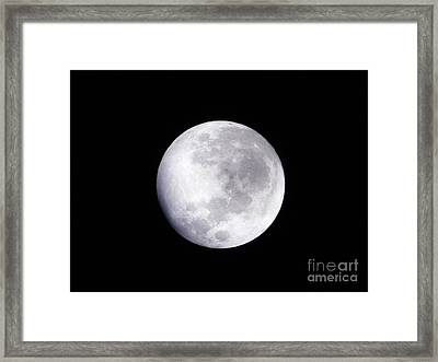 Beautiful Moon Framed Print by Cindy Hudson