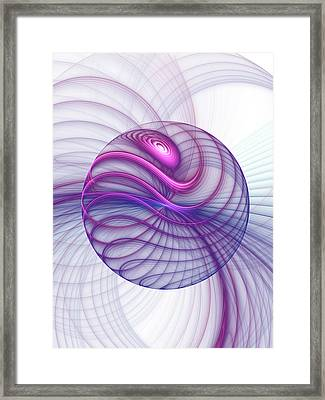 Beautiful Movements Fractal Art Framed Print