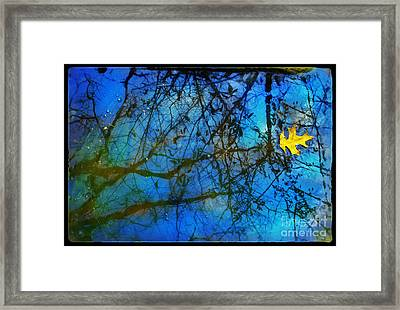 Beautiful Mud Puddle Framed Print