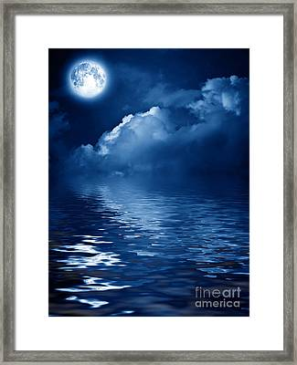 Beautiful Mysterious Moon Framed Print by Boon Mee