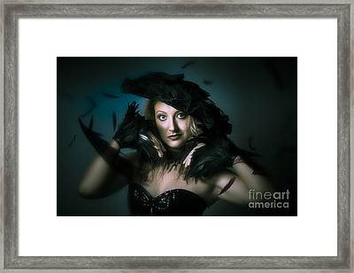 Beautiful Mystical Girl In Delicate Black Fashion Framed Print by Jorgo Photography - Wall Art Gallery