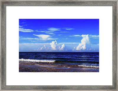 Framed Print featuring the photograph Beautiful Ocean View by Gary Wonning