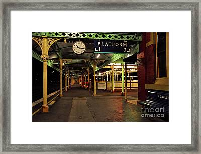 Framed Print featuring the photograph Beautiful Old Albury Station By Kaye Menner by Kaye Menner