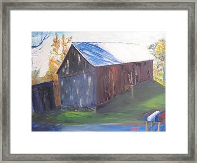 Beautiful Old Barn Framed Print by Gloria Condon