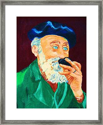 Beautiful Old Blue Eyes Framed Print by Carole Spandau