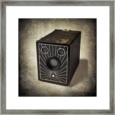 Beautiful Old Camera Framed Print by Garry Gay