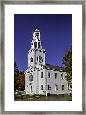 Beautiful Old First Church Framed Print by Garry Gay