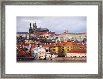 Beautiful Old Prague Framed Print by Jenny Rainbow