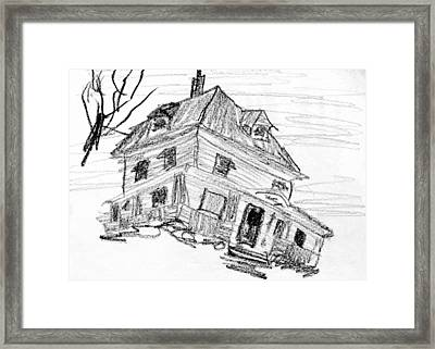 Beautiful Older Home In Need Of Tlc Framed Print by R Kyllo