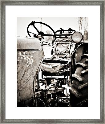 Beautiful Oliver Row Crop Old Tractor Framed Print