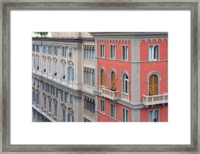 Beautiful Ornamented Buildings From Genova, Italy Framed Print by Oana Unciuleanu