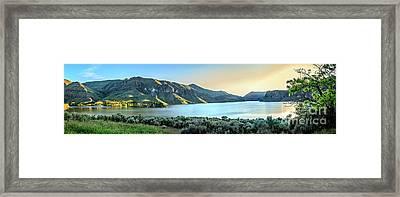 Beautiful Owyhee Reservoir Framed Print by Robert Bales