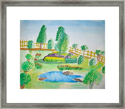 Beautiful Park Framed Print by Tanmay Singh