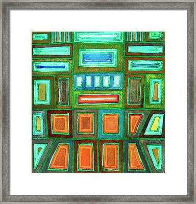 Beautiful Pattern With Silver Glowing In The Dark  Framed Print by Heidi Capitaine