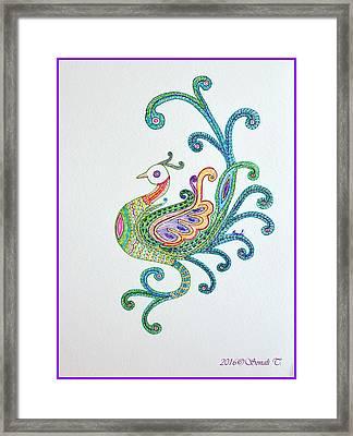 Beautiful Peacock Framed Print