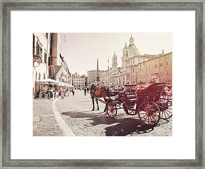 Beautiful Piazza Framed Print by Dressage Design