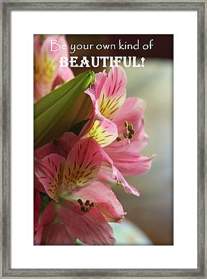 Beautiful Pink Lily Framed Print