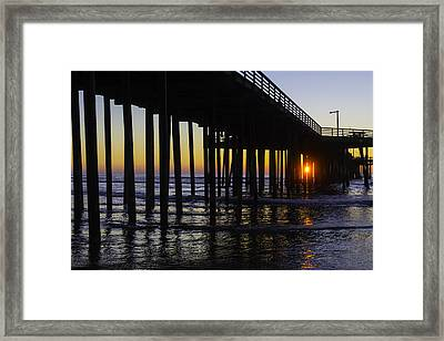 Beautiful Pismo Beach Sunset Framed Print