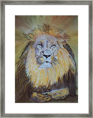 Framed Print featuring the painting Beautiful Pose Of The King by Connie Valasco