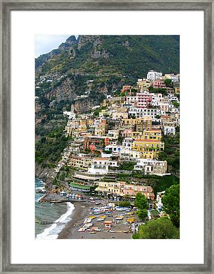 Beautiful Positano Framed Print by Carla Parris