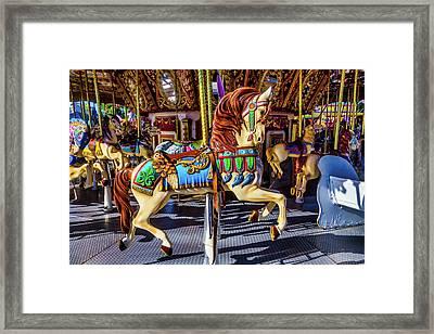 Beautiful Prancing Carrousel Horse Framed Print