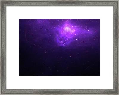 Beautiful Purple Sky Universe Background Framed Print