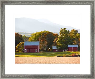Beautiful Red Barn 3 Framed Print by Lanjee Chee