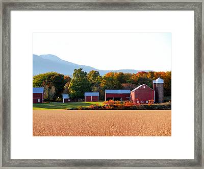 Beautiful Red Barn 4 Framed Print by Lanjee Chee
