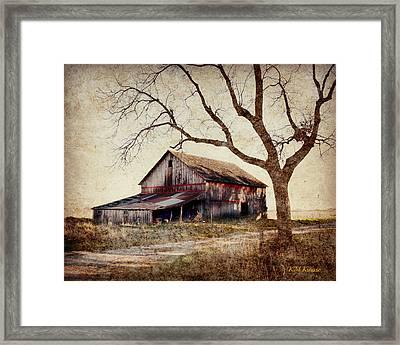 Beautiful Red Barn-near Ogden Framed Print by Kathy M Krause
