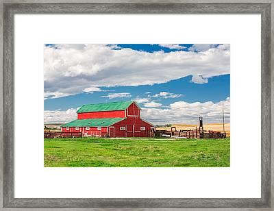 Beautiful Red Barn Framed Print