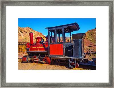 Beautiful Red Calico Train Framed Print