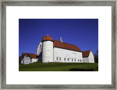 Beautiful Red Roof Barn Framed Print by Garry Gay