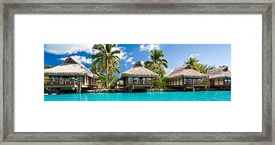 Beautiful Resorts In St John Framed Print by Peter Parker