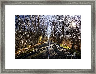 Beautiful Roads In Winters Shadow Framed Print by Jorgo Photography - Wall Art Gallery