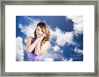 Beautiful Romantic Woman In Love Heart Romance Framed Print by Jorgo Photography - Wall Art Gallery