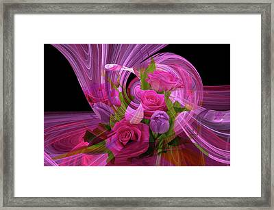 Beautiful Rose Bouquet Montage Framed Print