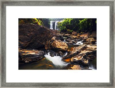 Beautiful Sathodi Falls Framed Print by Vishwanath Bhat
