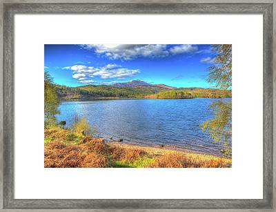 Beautiful Scottish Loch Garry Scotland Uk Lake West Of Invergarry On The A87 Hdr Framed Print
