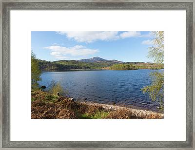 Beautiful Scottish Loch Garry Scotland Uk Lake West Of Invergarry On The A87 South Of Fort Augustus  Framed Print