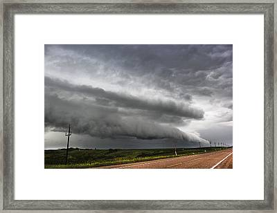 Framed Print featuring the photograph Beautiful Shelf Cloud by Ryan Crouse