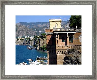 Beautiful Sorrento Italy Framed Print by Mindy Newman