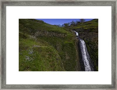 Beautiful Spring Falls Framed Print