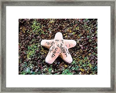 Beautiful Starfish In The Coral Reef Framed Print by Lanjee Chee